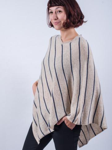 Poncho ecologico de lana del Himalaya