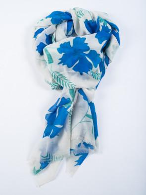 Bufanda DHARAN - Estampado flores azules