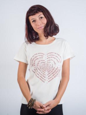 camiseta ecológica, 100% algodón orgánico de Nepal
