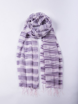 Chal MANASLU tierra - Rayas en lila y blanco