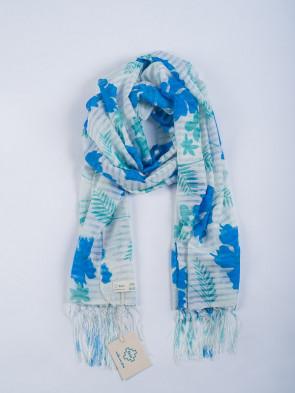Chal PAT - Estampado hojas azules