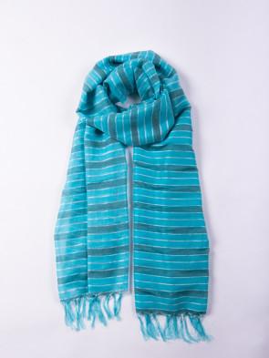 Chal biodegradable de seda y fibra de platanero del Himalaya