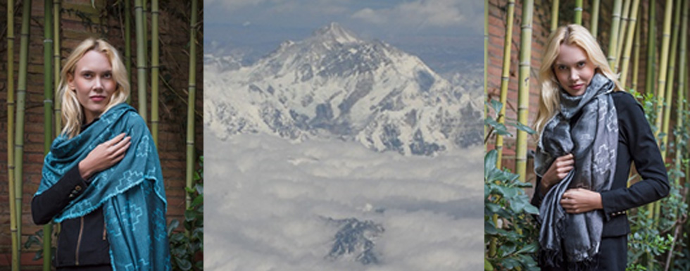 Bufanda ecológica GULMI, Mount Everest/Sagarmatha, Nepal, tejidos naturales del Himalaya