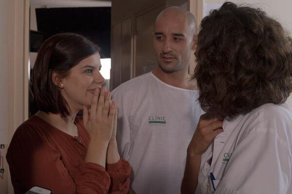 Actriz Mariona Ribas con actor Alain Hernández & Actriz Miriam Tortosa