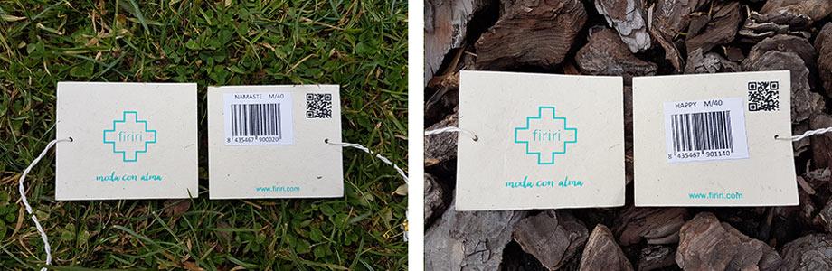 Etiquetas ecológicas, papel de arroz